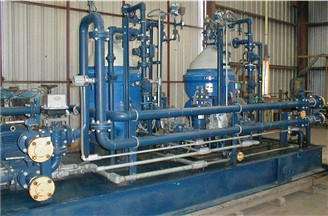 Iraq Power generation diesel fuel oil treatment plant centrifuge equipment on skid with Alfa Laval oil separators for GE LM 2500 turbines