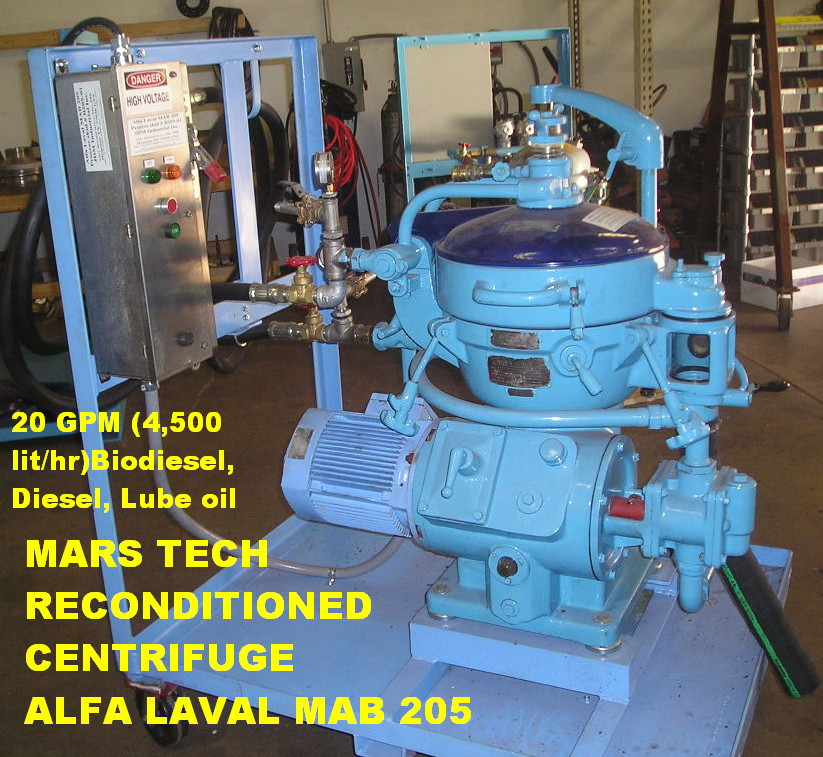 biodiesel centrifuges from mars tech rh marstechusa com Alfa Laval Plate Heat Exchanger Alfa Laval Butterfly Valve